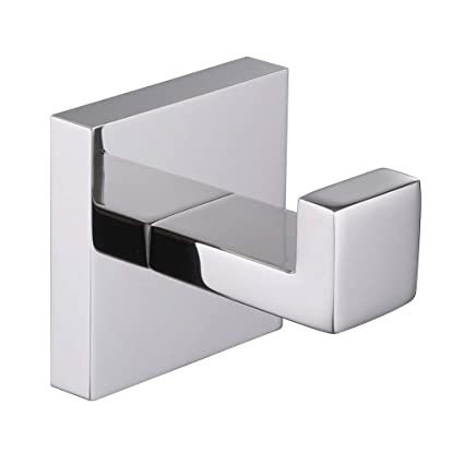Bathroom Fixtures Brass Chrome Square Wall Mounted Single Robe Hook Lavatory Ladder Hanger