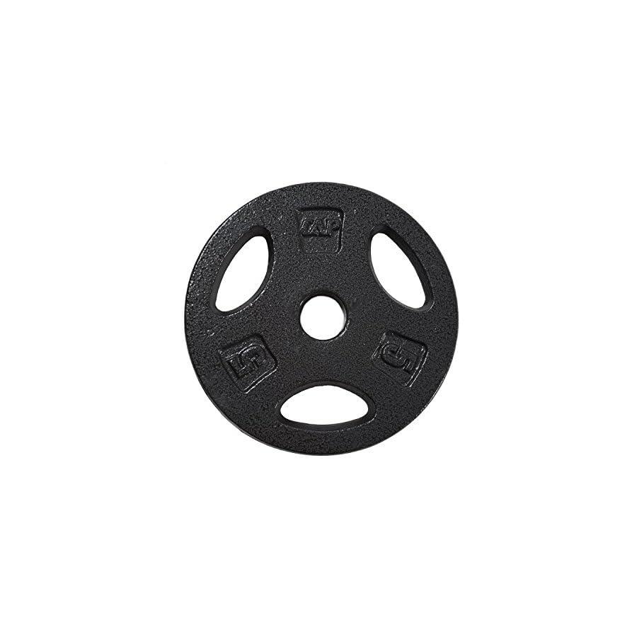 CAP Barbell Standard Grip Plate, Black, 5 lb