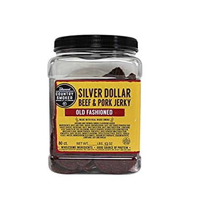 TILLAMOOK Silver Dollars - Beef & Pork Jerky (Old Fashioned)80 count/.13oz by Tillamook Country Smoker
