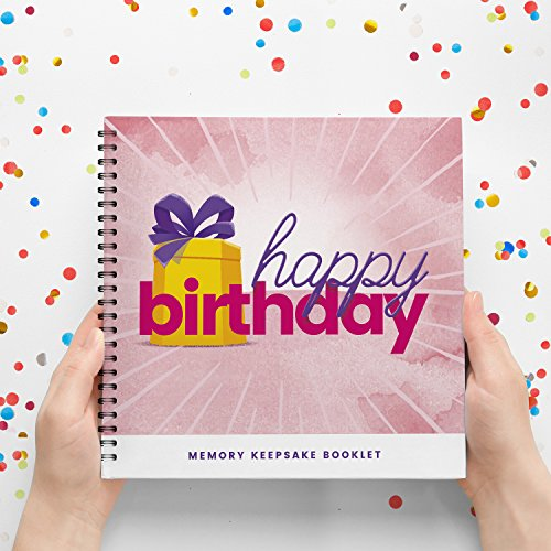 Birthday Book For Girls, Positive Scrapbook To Record A New Year Celebration For Your Special Daughter, Sister or Mom. Ready To Fill And Give As A Present. Great Birhtday Gift Ideas For Her