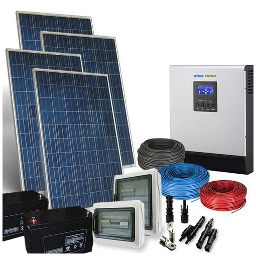 PuntoEnergia Italia – Kit Casa Solare PLUS 1Kw 24V Impianto Fotovoltaico Inverter 2400W Batterie AGM – KCS-1000PL-24-2400-B120-A