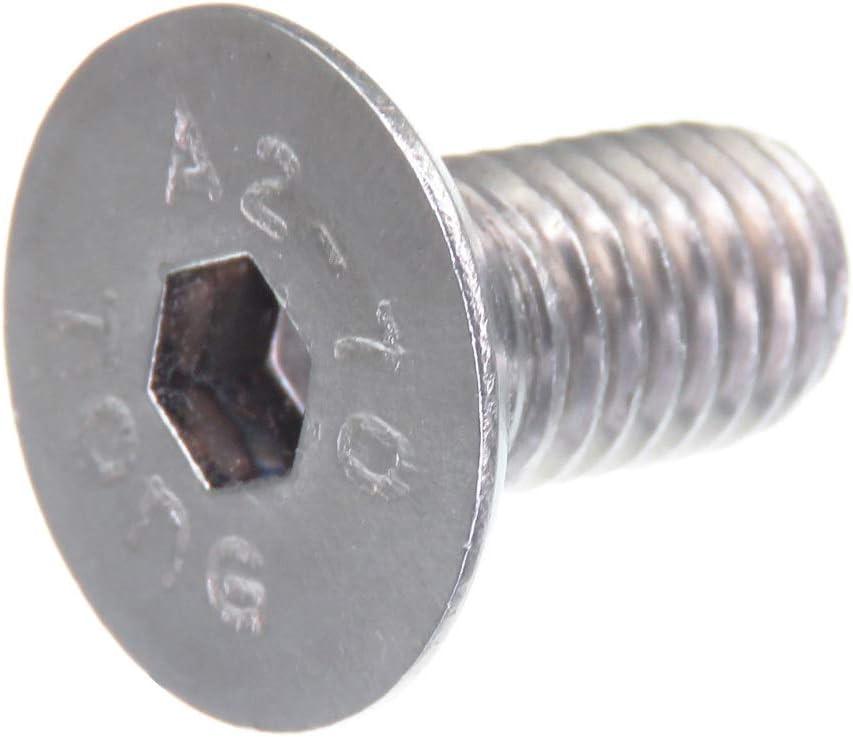 hex/ágono interior DIN 7991 // ISO 10642 Tornillo avellanado SECCARO M10 x 100 mm acero inoxidable V2A VA A2 20 piezas