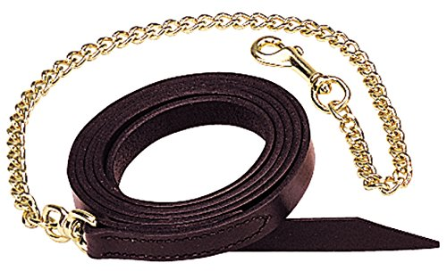 Weaver Leather Single-Ply Horse Lead Features Brass Plated Chain