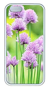 iPhone 5 5S Case Natural Pink Flower Beautiful TPU Custom iPhone 5 5S Case Cover White