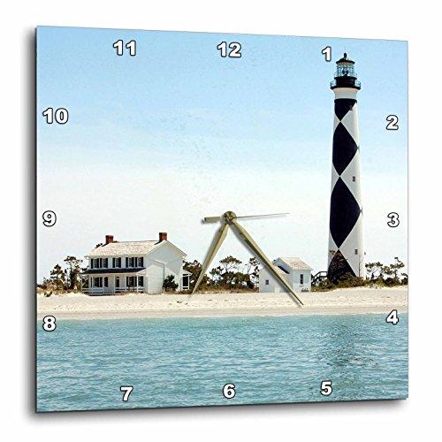 3dRose DPP_93274_2 North Carolina, Cape Lookout Lighthouse-Us34 Lse0035-Lynn Seldon-Wall Clock, 13 by 13-Inch