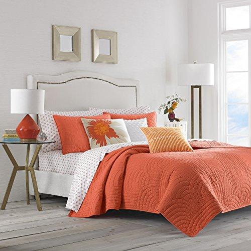 Trina Turk USHSA91050617 Palm Desert Quilt Set, Full/Queen, Orange