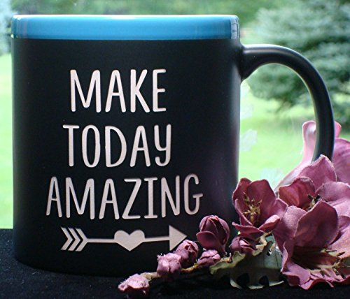 Make Today Amazing Inspirational Message Coffee Mug Cup With Liquid Chalk Marker