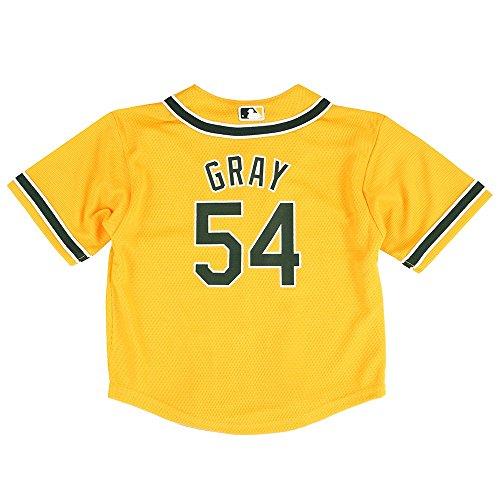 OuterStuff Sonny Gray MLB Majestic Oakland Athletics Gold Cool Base Jersey Infant (12M-24M)