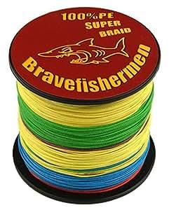 Bravefishermen super strong pe braided for Amazon fishing line