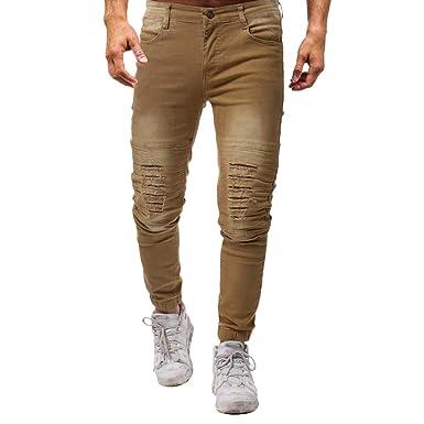 Cebbay Pantalones Vaqueros Hombres Liquidación Slim Fit ...