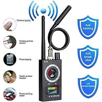 Anti Spy Detector, RF Detector & Camera Finder, Bug Detector, Upgraded RF Signal Detector, KORKUAN GSM Tracking Device for Wireless Audio Bug Hidden Camera ...