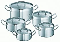 Schulte-Ufer Mega-Set Profi-Line i, Cookware Set, Stainless Steel 18/10, 5PCs., Set 450