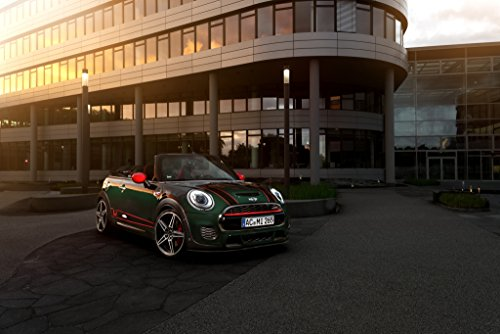 Mini Cooper Works Cabrio by AC Schnitzer (2016) Car Print on 10 Mil Archival Satin Paper Green Front Side Static View 18