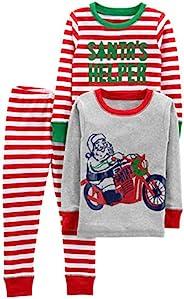 Simple Joys by Carter's Baby-Boys 3-Piece Snug-Fit Cotton Christmas Pajama