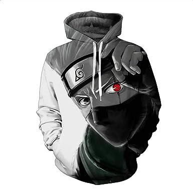 Unisex Sudadera con Capucha 3D Anime Gráfico Impresion Sudaderas Naruto Hoodie con Bolsillos Drawstring: Amazon.es: Ropa y accesorios