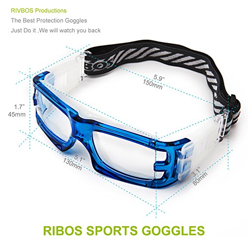 6a8c086c6530 RIVBOS Sports Goggles Safety Protective Glasses with Strap and ...