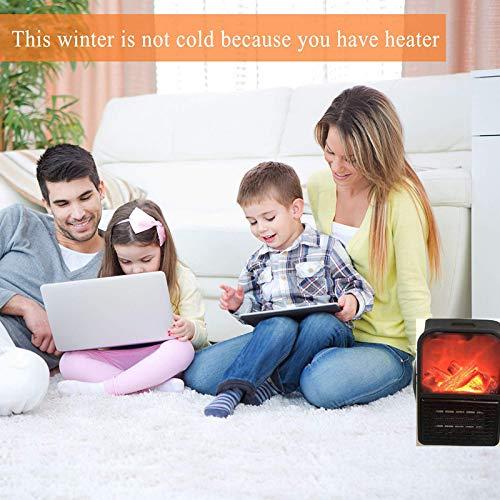 Calefactor Cer/ámico de Aire Caliente de Ventilador Calefactor Port/átil Pared con Salida de Pared y Pantalla Digital con Temporizador Ajustable para el Hogar NiLeFo Mini Estufa El/éctrica