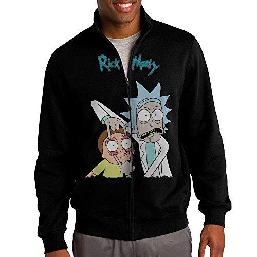 [Rick and Morty Mens Tri-blend Black Soft T-shirt] (Dwayne Johnson Baby Costume)