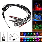 DZT1968 10PCS RGB 50W LED Car Motorcycle Chopper Frame Glow Lights Flexible Neon Strips Kit 10cm