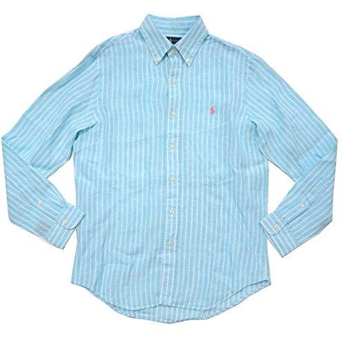 Polo Ralph Lauren Mens Buttondown Ocean Linen Washed (S, ()