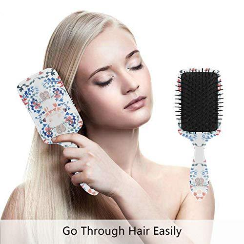 (AISSO William Morris Print GPPS Hair Brush Premium Air Cushion Massage Scalp for Healthy Hair for All Hair Types, Nylon Comb teeth for Adults and Kids)