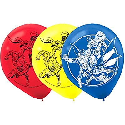 Justice League Latex Balloons, Party Favor: Toys & Games