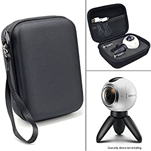 CaseSack Designed Protective Case for Samsung Gear 360 Degree Spherical Camera, Ballistics Surface with Soft Fleece Lining