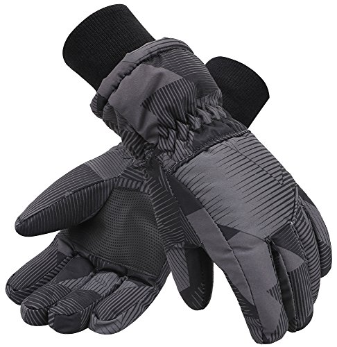 (Simplicity Kids Boys 3M Thinsulate Lined Waterproof Ski Winter Gloves)