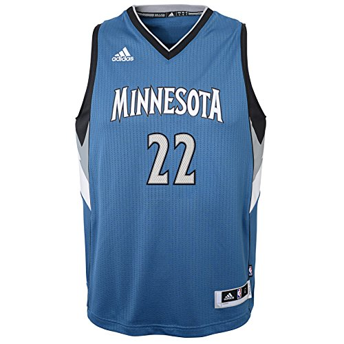 (Outerstuff NBA Minnesota Timberwolves Andrew Wiggins Boys Player Swingman Road Jersey, X-Large (18), Capital Blue)