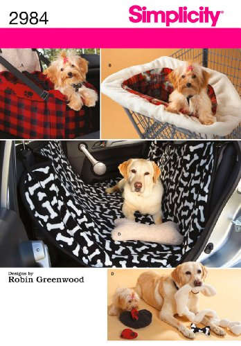 Simplicity Pattern Travel Accessories for Dogs, One Size