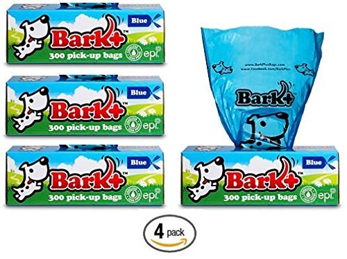 Bark 1200 Dog Waste Bags Poop Bags, 4 Pack