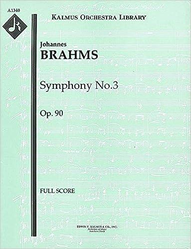 Symphony No.3, Op.90: Full Score [A1340]