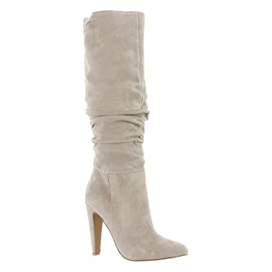 5b7b55f9044 Steve Madden Carrie Heeled Knee High Boots - Grey  Amazon.com.au ...