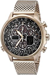 Citizen Eco-Drive Men's JY8033-51E Navihawk A-T Rose Gold Watch