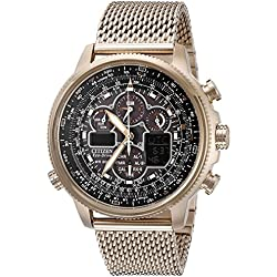 Citizen Eco-Drive Men's JY8033-51E Navihawk A-T Rose Gold Watch