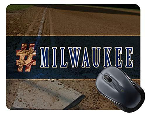 Pad Milwaukee (BRGiftShop Hashtag Milwaukee #Milwaukee Baseball Team Square Mouse Pad)