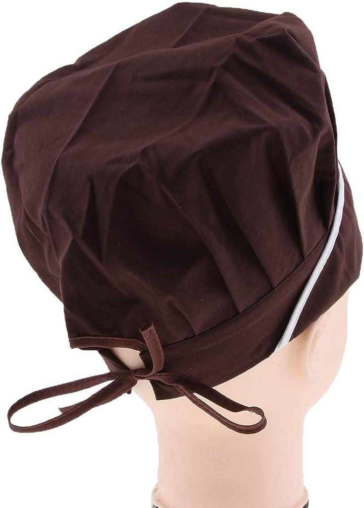 Confortevole Traspirante Shiwaki Cappello per Pasticceria Chef Regolabile Cappuccio da Lavoro