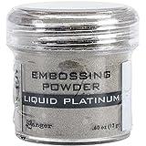 Ranger Embossing Powder, 0.6-Ounce Jar, Liquid Platinum