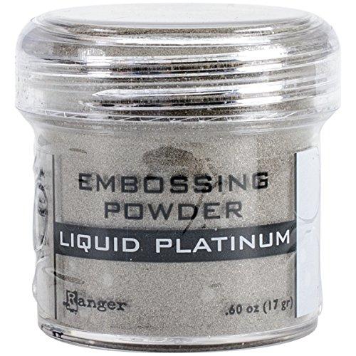 (Ranger Embossing Powder, 0.6-Ounce Jar, Liquid Platinum)