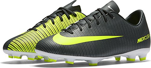 Nike Kids Jr. Mercurial Vapor XI CR7 FG Soccer Cleat (Sz. 2.5Y) Seaweed