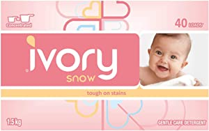 Ivory Snow Gentle Care Laundry Detergent, 40 Loads (4 packs) total 160 loads and total of 6 kilos