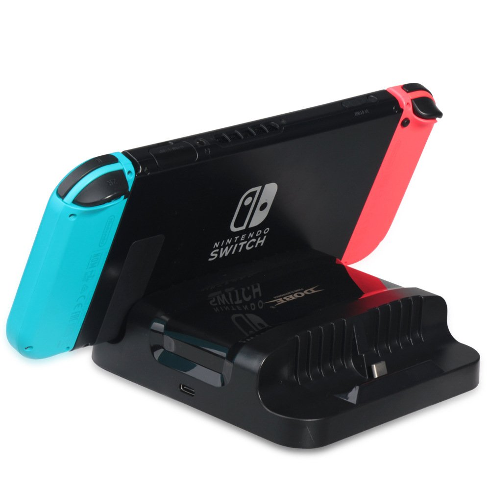 Likorlove Nintendo Switch Charger, Dual USB Type-C Charging Dock Station Cradle for Nintendo Switch Console
