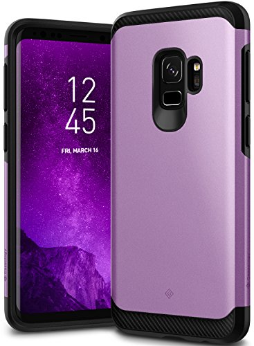 Galaxy S9 Case, Caseology [Legion Series] Slim Heavy Duty Protection Dual Layer Armor Cover for Samsung Galaxy S9 (2018) - Lilac Purple (Solid Rubber Purple)