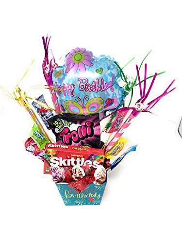 Happy Birthday Decorated Candy Bouquet and Mug (Gift Bouquets)