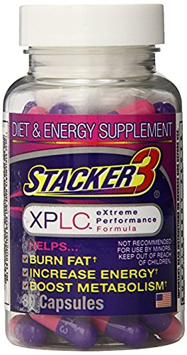 Stacker 3 XPLC- Extreme Performance Formula | Burn Body Fat, Boost Energy & Kickstart Metabolism (80-Count Bottle)