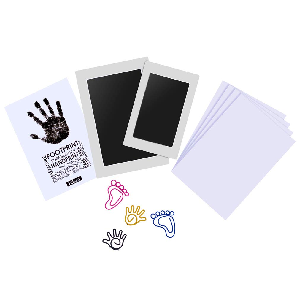 PChero 2pcs Kit von Pads Pads Impressum von Handabdruck Baby Handprint sauber perfekt fü r Familie Baby Shower Andenken Geschenk, groß /mittel BB024