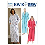 The Misses' Robes are designed for heavy stretch knits. We suggest Polarfleece®, sweatshirt fleece, robe velour. The Misses' robes have raglan sleeves. View A has a hood, kangaroo pockets and a separating zipper at the center front. View B...