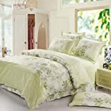 4Pcs Suit Soft Short Plush Floral Printed Bedding Sets Option: A