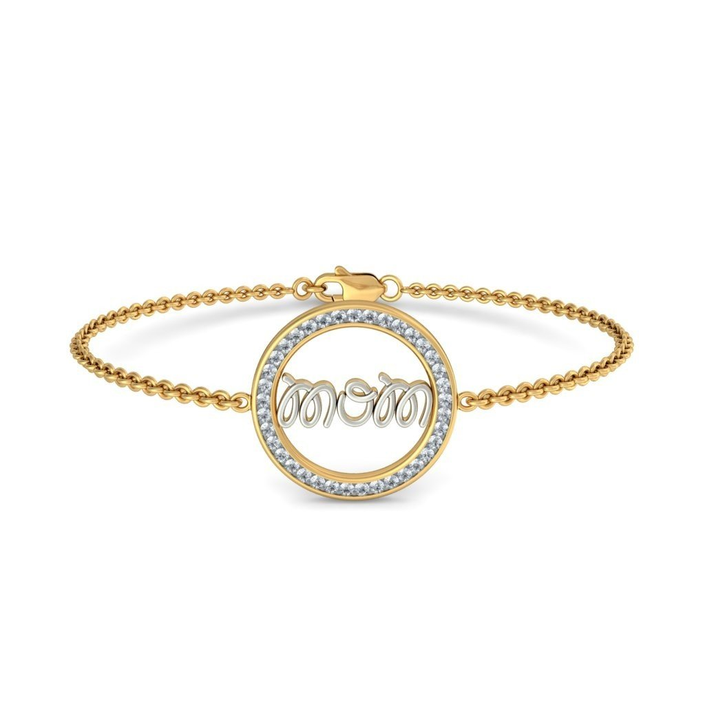 identification-bracelets Size 0.444 cttw Round-Cut-Diamond IJ  SI 6.5 inches 18K Yellow Gold