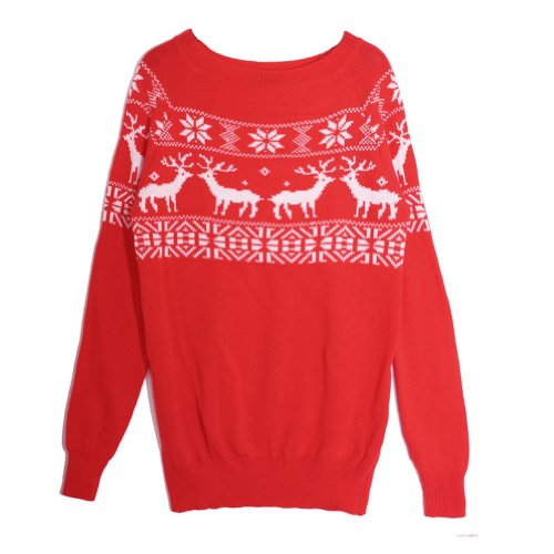 CA Mode Women Merry Christmas Snowflake Xmas Santa Sweater Jumper Knitwear (Ca Sweater compare prices)